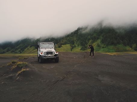 Taking Pic of Jeep Instead